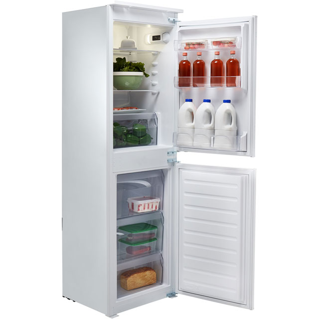 Hotpoint Day 1 HMCB5050AA.1 Integrated 50/50 Fridge Freezer with Sliding Door Fixing Kit - White - A+ Rated Best Price, Cheapest Prices