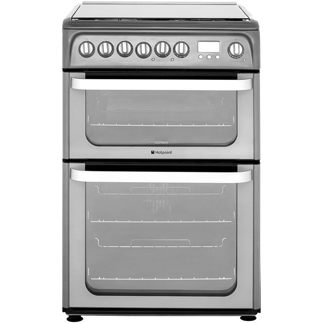 Hotpoint Ultima HUD61GS 60cm Dual Fuel Cooker - Graphite - A/A Rated