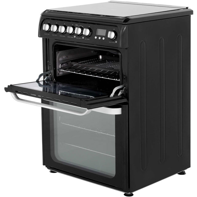 Hotpoint Ultima HUD61KS Dual Fuel Cooker - Black - HUD61KS_BK - 3