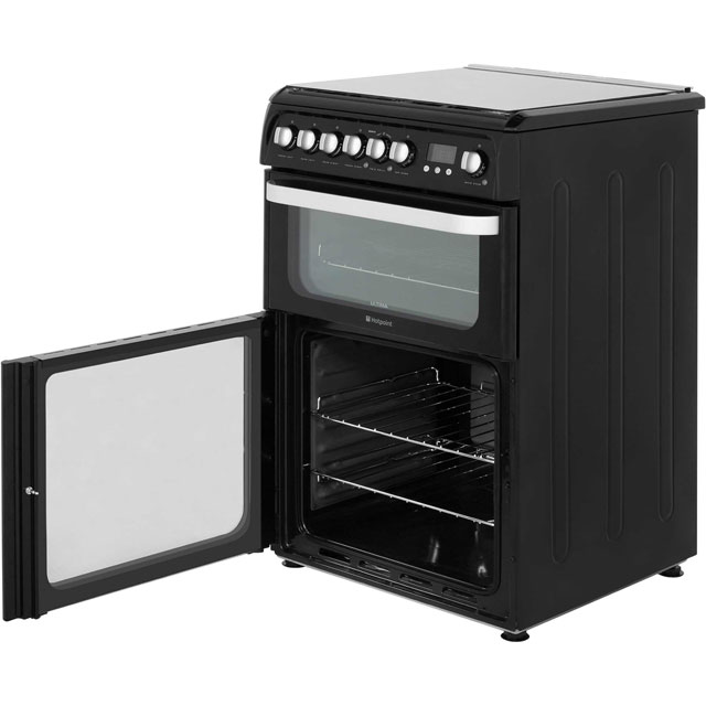 Hotpoint Ultima HUD61KS Dual Fuel Cooker - Black - HUD61KS_BK - 4