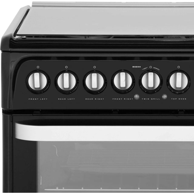 Hotpoint Ultima HUD61KS Dual Fuel Cooker - Black - HUD61KS_BK - 5