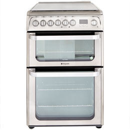 Hotpoint Ultima 60cm Dual Fuel Cooker - Stainless Steel - A Rated