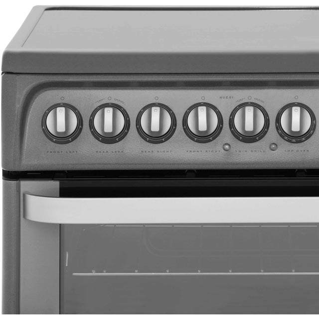 Hotpoint Ultima HUE61XS Electric Cooker - Stainless Steel - HUE61XS_SS - 4