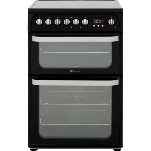 Hotpoint Ultima HUE61KS Electric Cooker - Black - HUE61KS_BK - 1