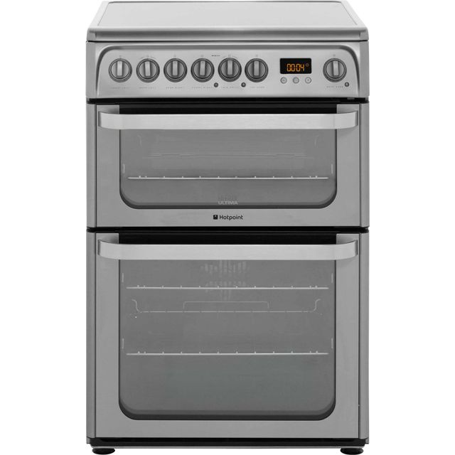Hotpoint Ultima HUE61XS Electric Cooker with Ceramic Hob - Stainless Steel - A/A Rated - HUE61XS_SS - 1