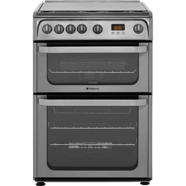 Hotpoint Ultima HUG61X 60cm Gas Cooker with Variable Gas Grill - Stainless Steel - A+/A Rated - HUG61X_SS - 1