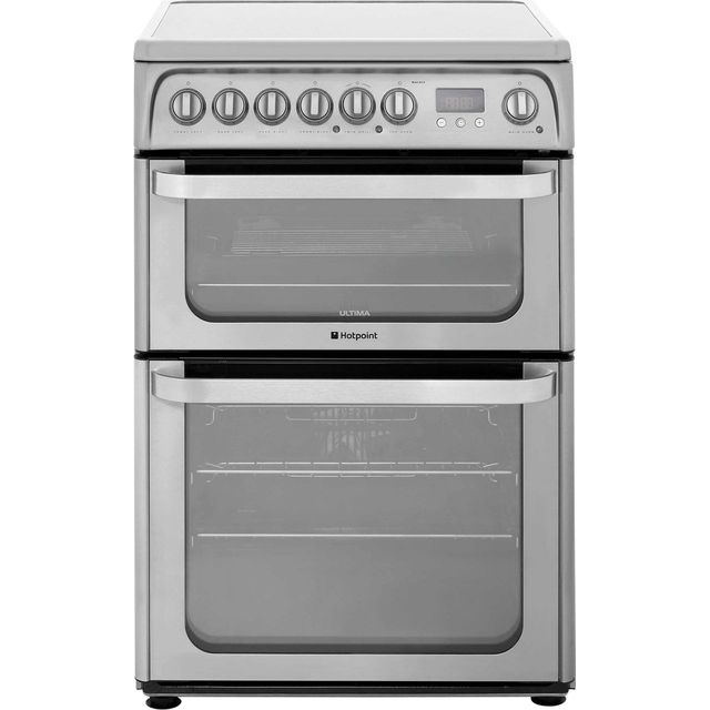 Hotpoint Ultima HUI611X 60cm Electric Cooker with Induction Hob - Stainless Steel - A/A Rated - HUI611X_SS - 1