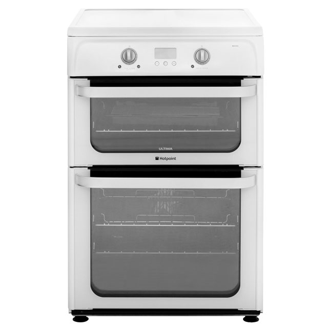 Hotpoint Ultima HUI612P 60cm Electric Cooker with Induction Hob - White - A/A Rated - HUI612P_WH - 1