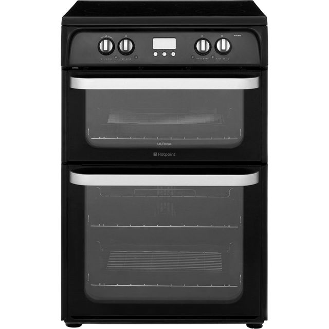 Hotpoint Ultima HUI614K 60cm Electric Cooker with Induction Hob - Black - A/A Rated - HUI614K_BK - 1