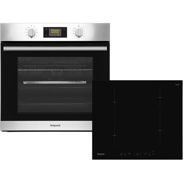 Hotpoint K002909 Built In Electric Single Oven and Induction Hob Pack - Stainless Steel / Black - A+ Rated - K002909_SS - 1