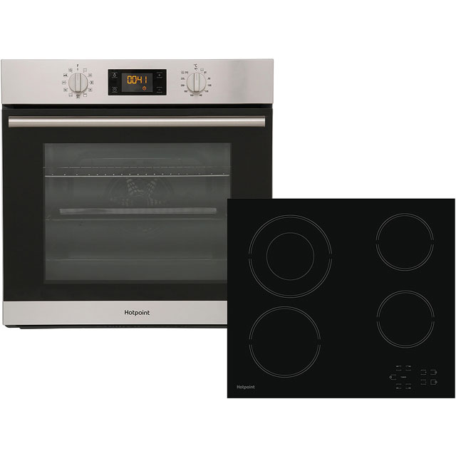 Hotpoint K002930 Built In Electric Single Oven and Ceramic Hob Pack - Stainless Steel - A+ Rated