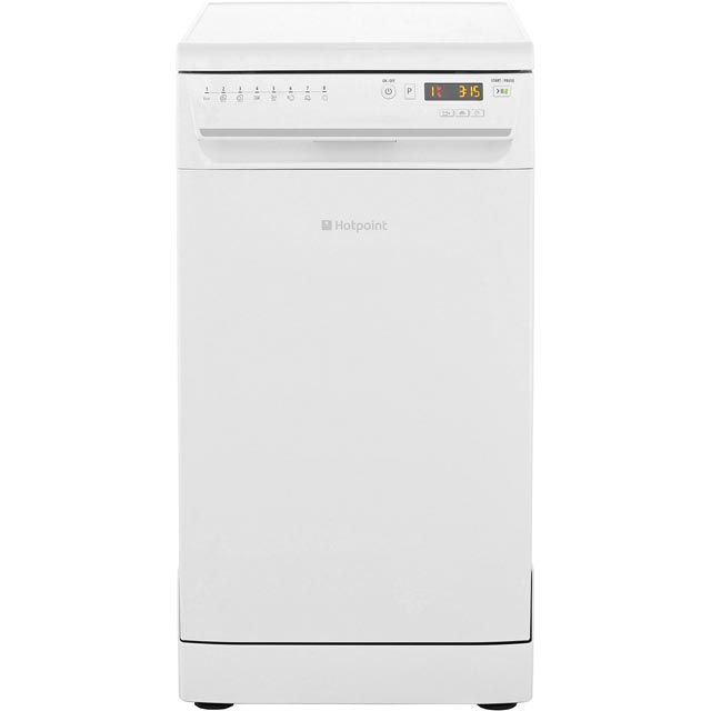 Hotpoint Slimline Dishwasher - White - A Rated