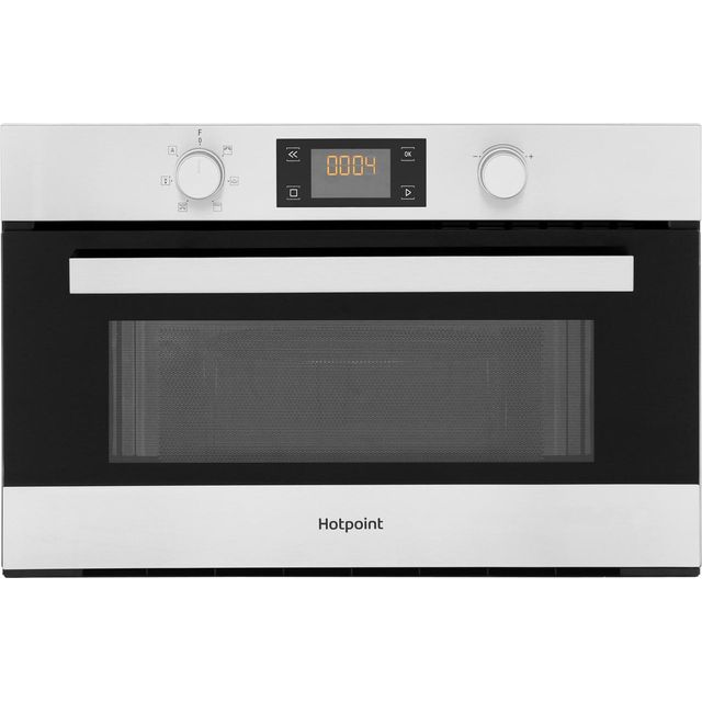 Hotpoint Class 3 MD344IXH Built In Microwave With Grill - Stainless Steel - MD344IXH_SS - 1