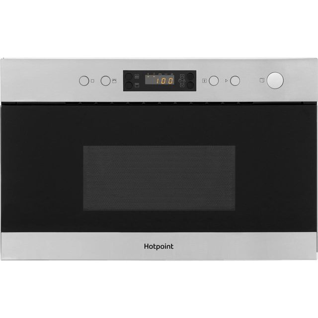 Hotpoint MN314IXH Built In Microwave With Grill - Stainless Steel - MN314IXH_SS - 1