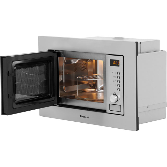 Hotpoint MWH122.1X Built In Microwave With Grill - Stainless Steel - MWH122.1X_SS - 4