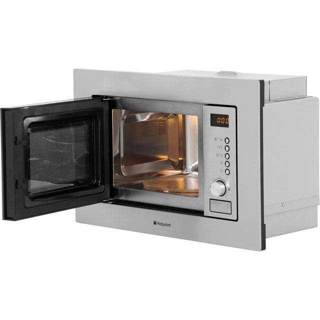 Hotpoint MWH122.1X Built In Microwave With Grill - Stainless Steel - MWH122.1X_SS - 5