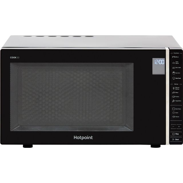 Hotpoint COOK 30 MWH301B 30 Litre Microwave - Black - MWH301B_BK - 1
