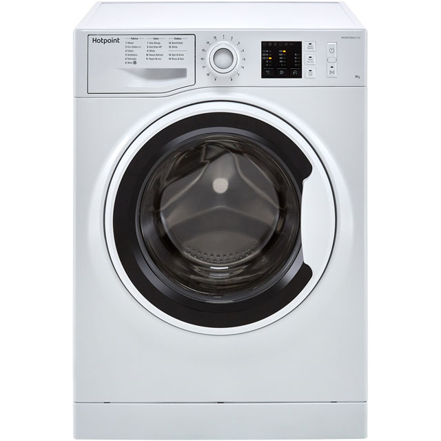 Hotpoint NM10944WWUK 9Kg Washing Machine with 1400 rpm - White - A+++ Rated - NM10944WWUK_WH - 1