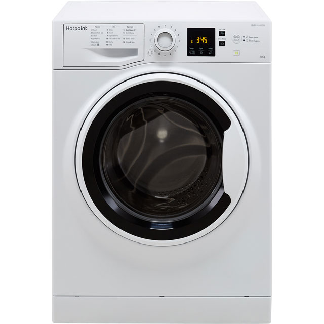 Hotpoint NSWA1043CWWUK 10Kg Washing Machine with 1400 rpm - White - A+++ Rated - NSWA1043CWWUK_WH - 1