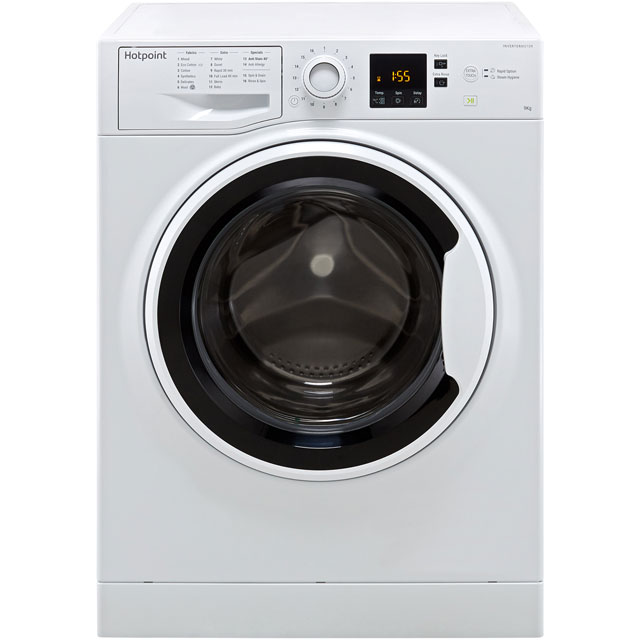 Hotpoint NSWA943CWWUK 9Kg Washing Machine with 1400 rpm - White - A+++ Rated - NSWA943CWWUK_WH - 1