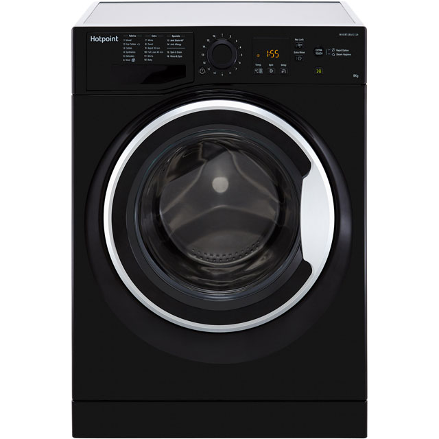 Hotpoint NSWM843CBSUK 8Kg Washing Machine with 1400 rpm - Black - A+++ Rated - NSWM843CBSUK_BK - 1