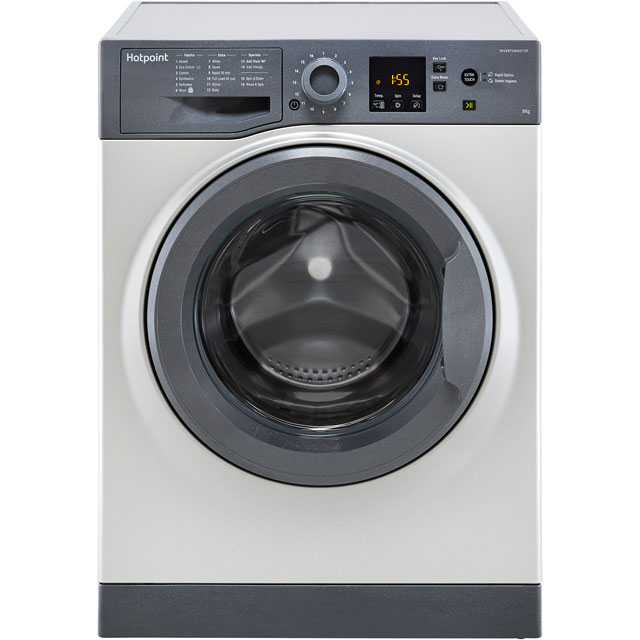 Hotpoint NSWM843CGGUK 8Kg Washing Machine with 1400 rpm - Graphite - A+++ Rated - NSWM843CGGUK_GH - 1