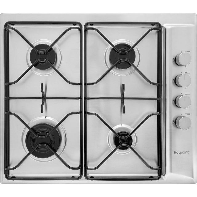 Hotpoint Newstyle PAN642IXH Built In Gas Hob - Stainless Steel - PAN642IXH_SS - 1