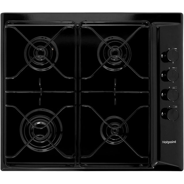 Hotpoint PAS642H Built In Gas Hob - Black - PAS642H_BK - 1