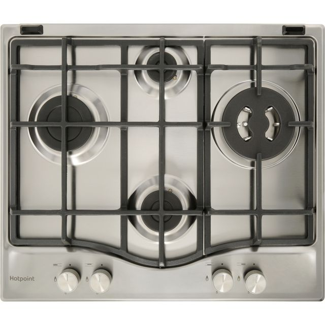 Hotpoint PCN641T/IX/H 59cm Gas Hob - Stainless Steel - PCN641T/IX/H_SS - 1