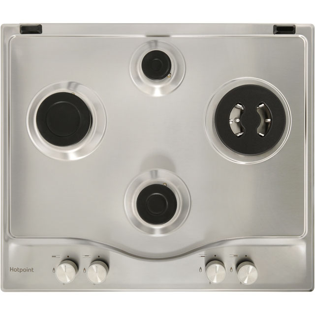 Hotpoint PCN641T/IX/H Built In Gas Hob - Stainless Steel - PCN641T/IX/H_SS - 2