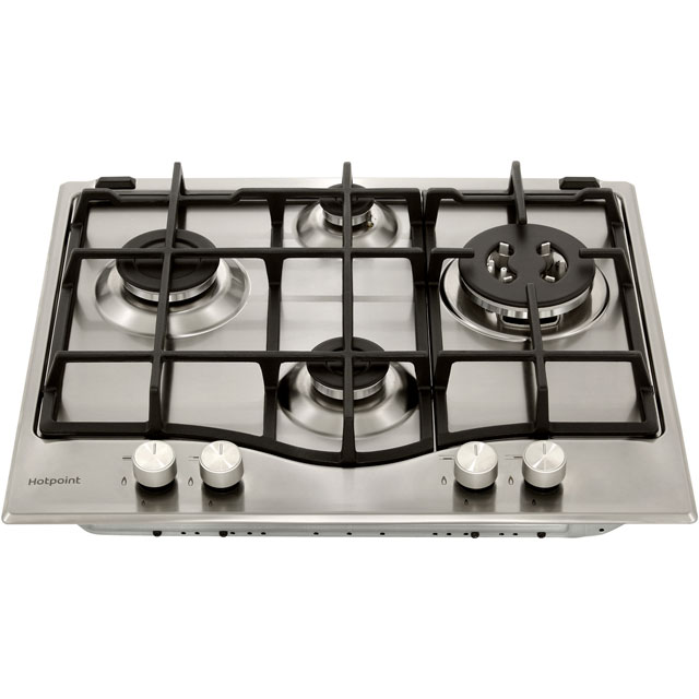 Hotpoint PCN641T/IX/H Built In Gas Hob - Stainless Steel - PCN641T/IX/H_SS - 4