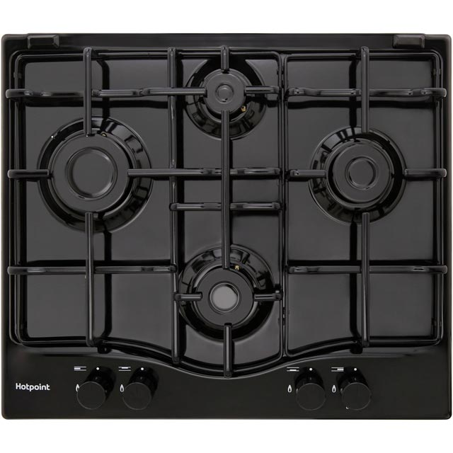 Hotpoint PCN642/H Built In Gas Hob - Black - PCN642/H_BK - 1