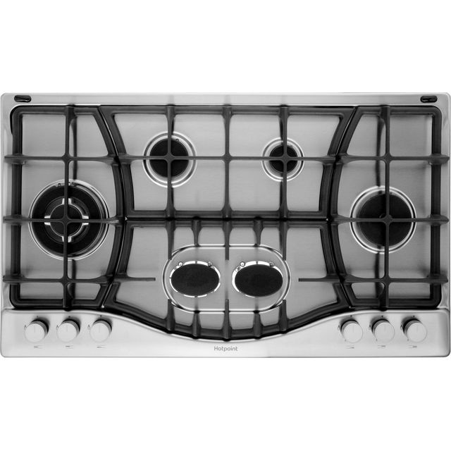 Hotpoint 87cm Gas Hob - Stainless Steel