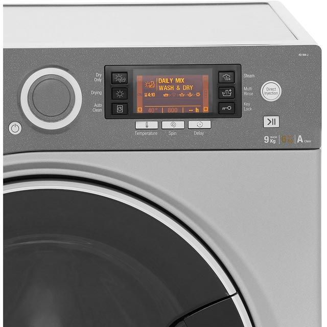 Hotpoint Ultima S-Line RD966JKD 9Kg / 6Kg Washer Dryer - Black - RD966JKD_BK - 4