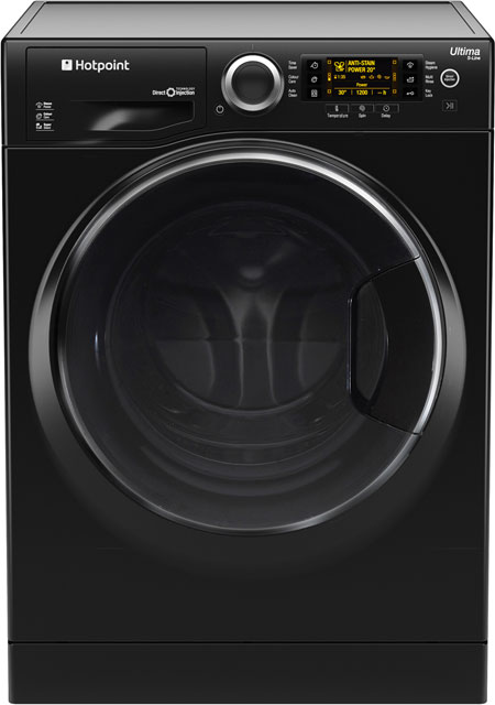 Hotpoint Ultima S-Line 9Kg Washing Machine - Black - A+++ Rated