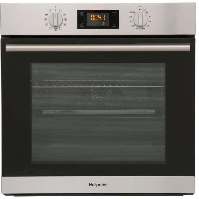 Hotpoint Class 2 SA2844HIX Built In Electric Single Oven - Stainless Steel - A+ Rated - SA2844HIX_SS - 1