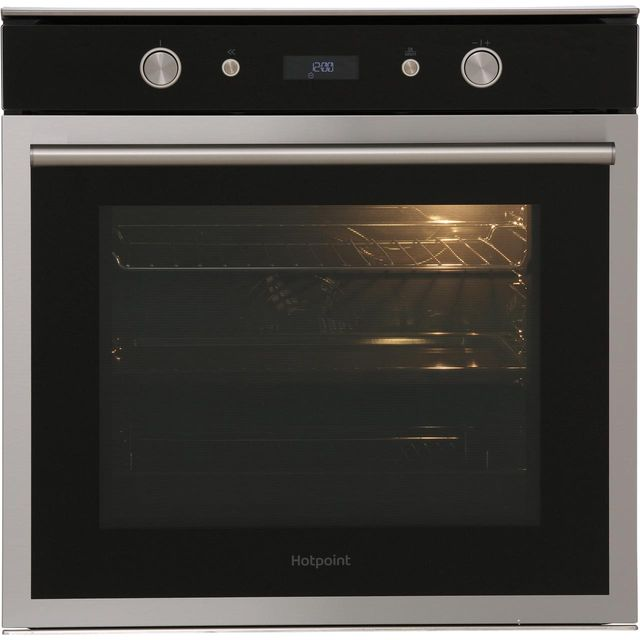 Hotpoint Class 6 SI6864SHIX Built In Electric Single Oven - Stainless Steel - A Rated - SI6864SHIX_SS - 1