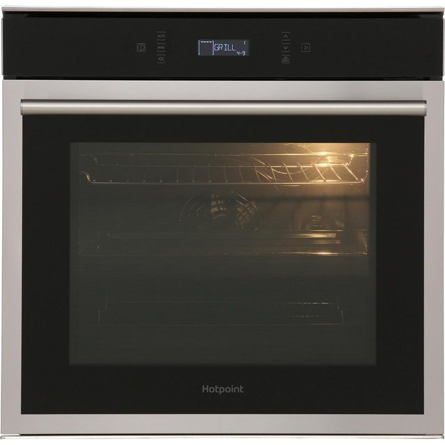 Hotpoint Class 6 SI6874SPIX Built In Electric Single Oven - Stainless Steel - A+ Rated - SI6874SPIX_SS - 1