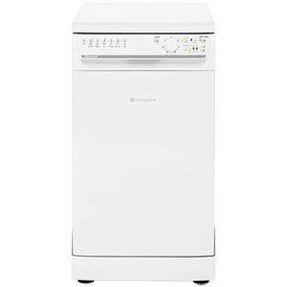 Hotpoint Aquarius SIAL11010P Slimline Dishwasher - White - A+ Rated - SIAL11010P_WH - 1