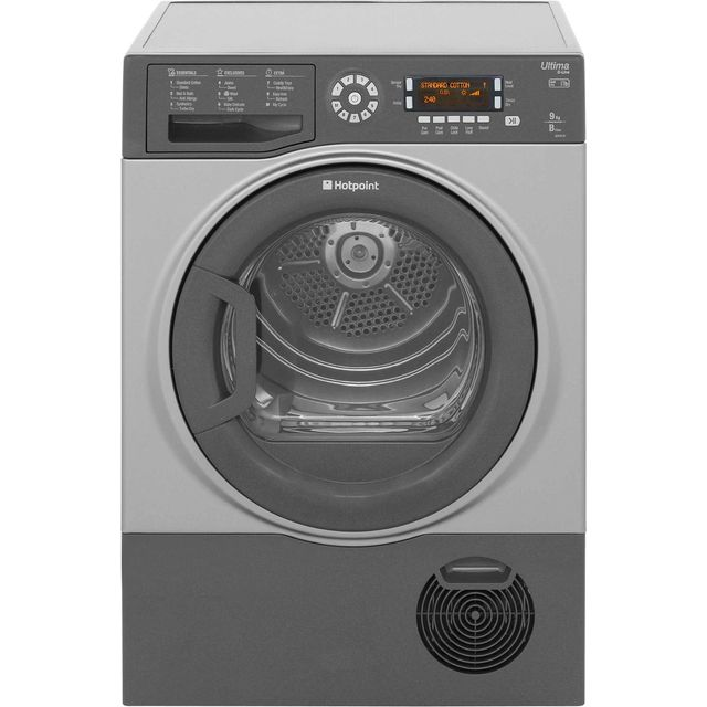 Hotpoint Ultima S-Line Free Standing Condenser Tumble Dryer in Graphite