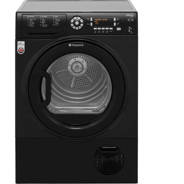 Hotpoint Ultima S-Line Free Standing Condenser Tumble Dryer in Black