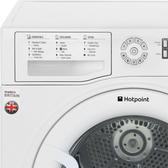 Hotpoint Ultima S-Line SUTCD97B6PM 9Kg Condenser Tumble Dryer - White - B Rated - SUTCD97B6PM_WH - 3