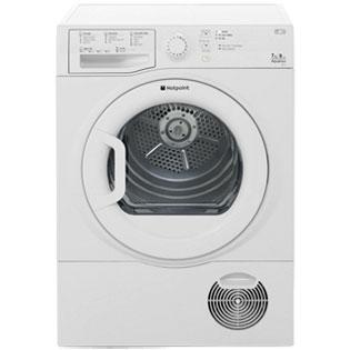 Hotpoint Aquarius TCFS73BGP Free Standing Condenser Tumble Dryer in White