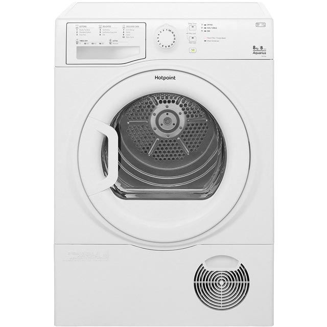 Hotpoint Aquarius TCFS835BGP Free Standing Condenser Tumble Dryer in White