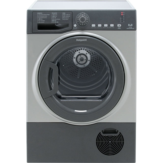 Hotpoint TCFS83BGG 8Kg Condenser Tumble Dryer - Graphite - B Rated - TCFS83BGG_GH - 1