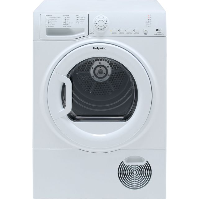 Hotpoint TCFS83BGP 8Kg Condenser Tumble Dryer - White - B Rated - TCFS83BGP_WH - 1