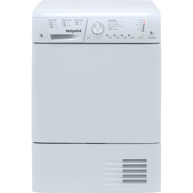 Hotpoint TCHL870BP Condenser Tumble Dryer - White - TCHL870BP_WH - 1