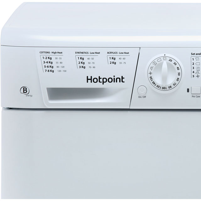 Hotpoint TCHL870BP Condenser Tumble Dryer - White - TCHL870BP_WH - 2