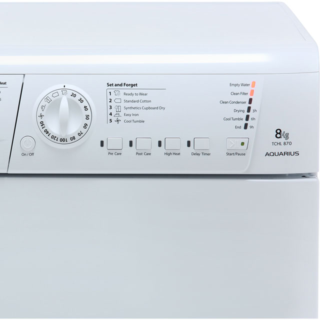 Hotpoint TCHL870BP Condenser Tumble Dryer - White - TCHL870BP_WH - 3