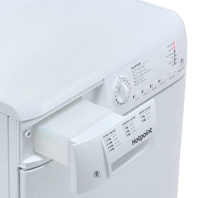 Hotpoint TCHL870BP Condenser Tumble Dryer - White - TCHL870BP_WH - 4